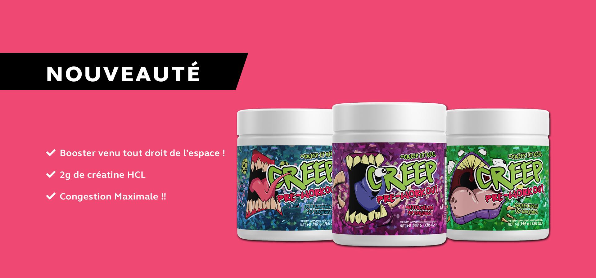 Nouveauté chez SD Nutrition 77 : Creep Labs - Creep Pré Workout 390g