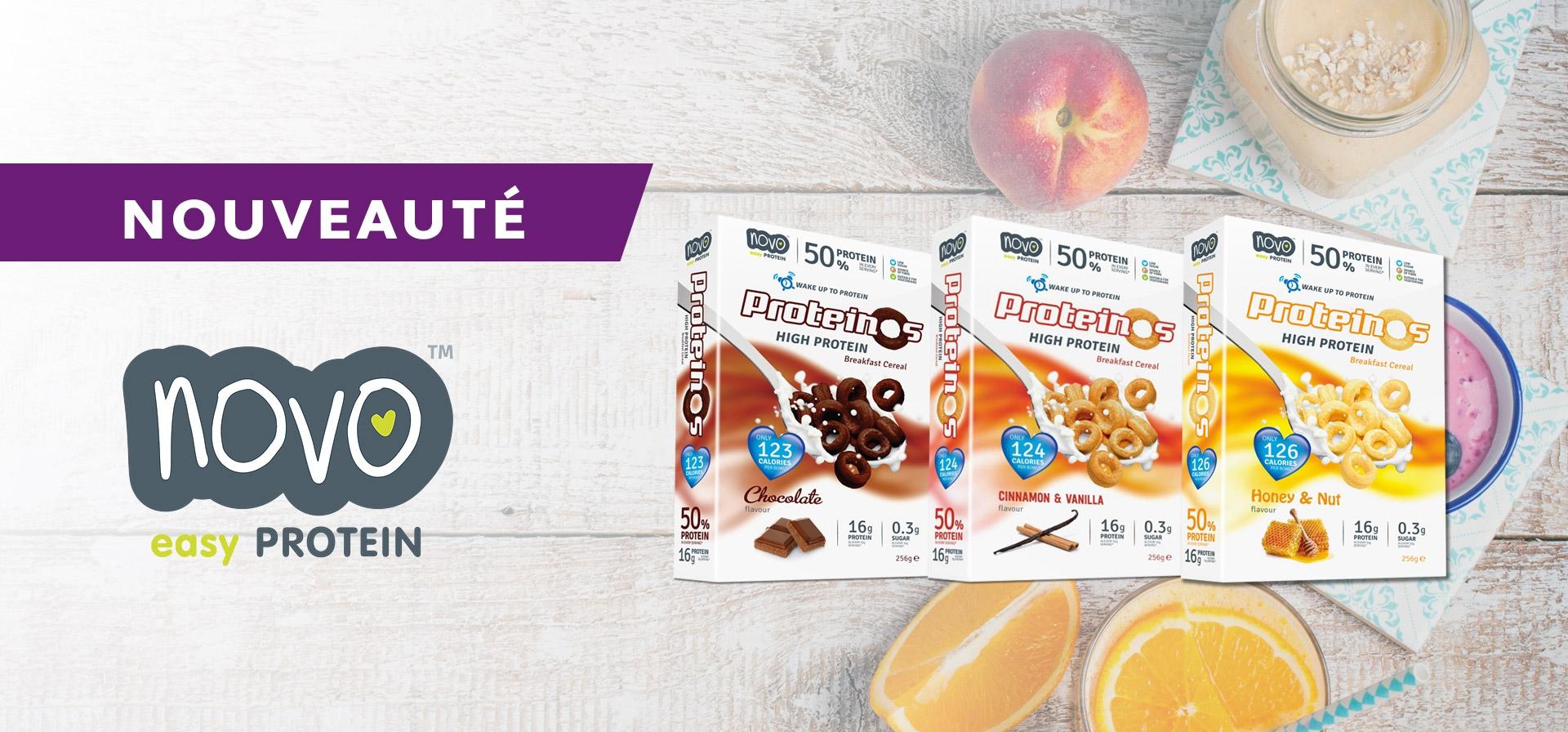Découvrez les céréales protéinées pour le petit déjeuner Proteinos de Novo Nutrition